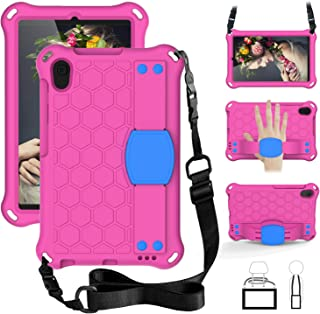 Huawei MatePad T8 Foam Case, Shockproof Cover with Shoulder Strap/Hand Strap with Retractable Stand for Huawei MatePad T8 ...