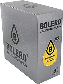 Bolero Bebida Instantánea Sin Azúcar, Sabor Tonica con Limon - Paquete de 24 x 9 gramos - Total 216 gramos
