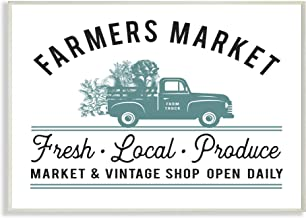 Stupell Industries Farmer's Market Icon Vintage Sign Wall Plaque Art, Multi-Color