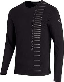 Men's High Density Print Long Sleeve Slim Fit Tee, Black