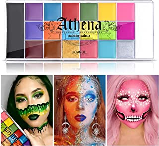 UCANBE Athena Face Body Paint Oil Palette, Professional Flash Non Toxic Safe Tattoo Halloween FX Party Artist Fancy Makeup...