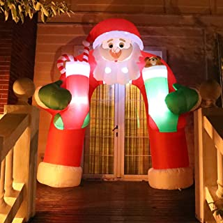 lighted outdoor santa