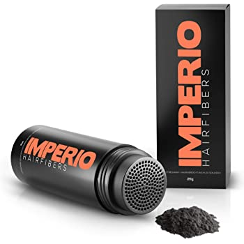 IMPERIO Streuhaar zur Haarverdichtung & vollem Haar in Sekunden. Schütthaar für einen authentischen Look. 100% Natur! In Premium Friseurqualität - 26g (Schwarz)