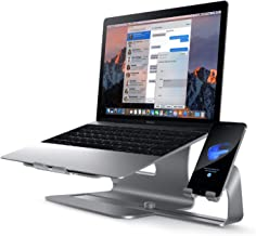 Bestand 2 in 1 Laptop and Phone Stand Aluminum Cooling Computer Stand & Holder Compatible with MacBook Air/Pro, iPhone Series, Grey