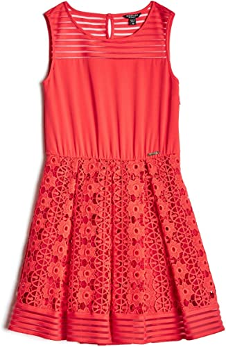 Guess Robe Fille Marciano Rouge J73k49
