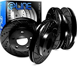 For Lexus, Toyota RX450h, RX350, Sienna Front Rear Black Drill Slot Brake Rotors