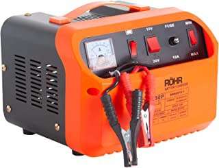 Röhr DFC-50P - Cargador Batería de Coche con 2 Modos Turbo y Lento - Reparación, Mantenimiento e Inicio rápido - 45 A - 12/24 V