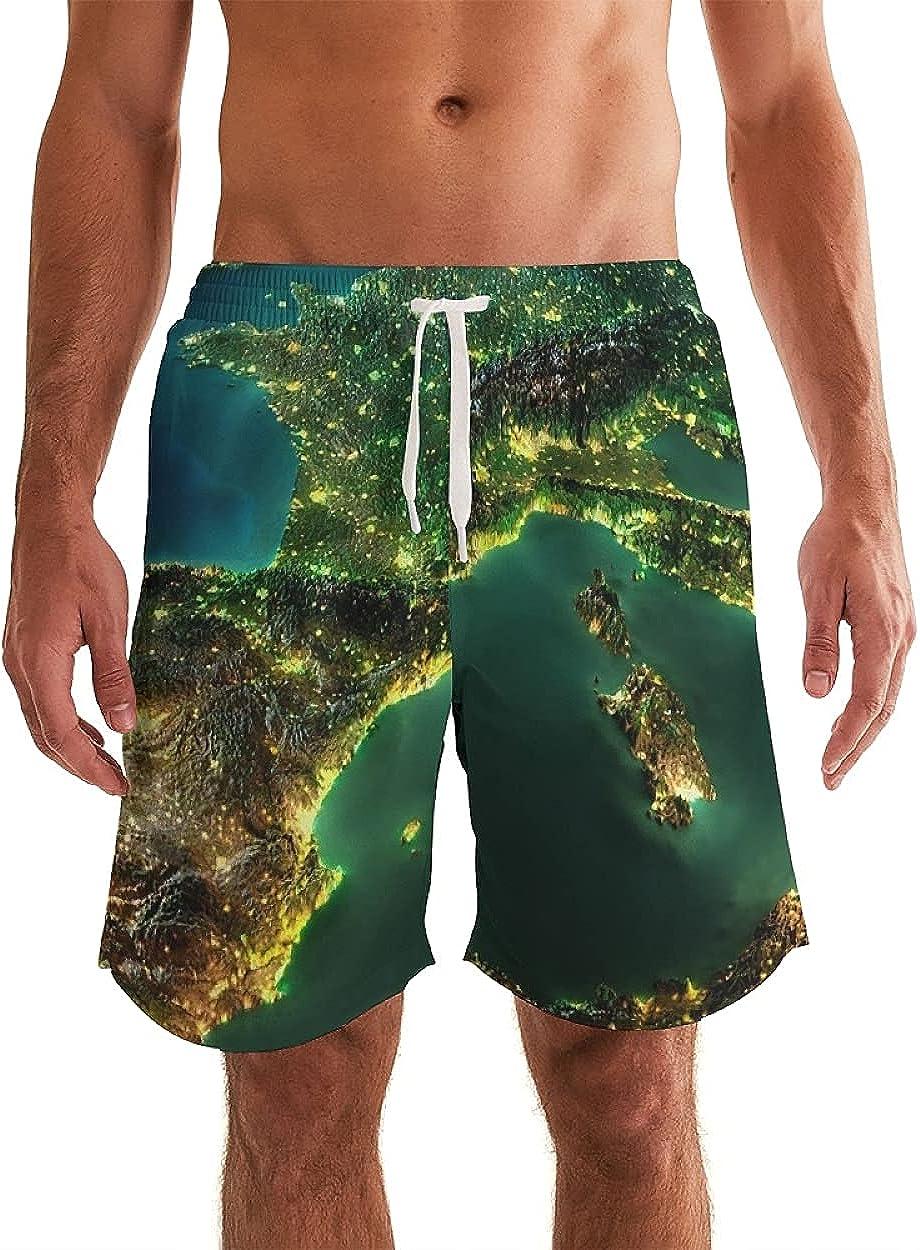 Men's Swim Shorts Beachwear Summer Holiday Swim Trunks Quick Dry Striped