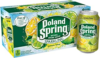 Poland Spring Sparkling Water, Lemon Lime, 12 oz. Cans (Pack of 8)