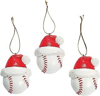 Baseball Christmas Ornaments 1 Dozen