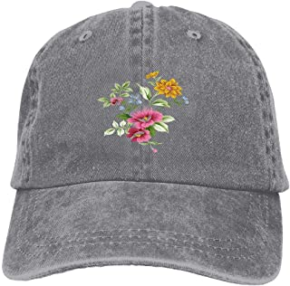 American Adult Unisex Cowboy Lovers with Adjustable Baseball Style Hats Hand Painted Flower Again Make Racism Wrong Funny Print Sports Cap