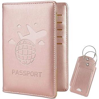 UE France Sac /à Dos//Portefeuille//Trousse /à Maquillage Ndier Passeport Covers PU Cuir Passeport Porte-Housse IRF Caf/é Wallet Voyage