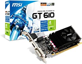 MSI NVIDIA GeForce GT 610 2GB GDDR3 VGA/DVI/HDMI Low Profile PCI-Express Video Card N610GT-MD2GD3/LP