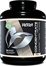 Grass Fed Whey Protein Concentrate by Muscle Feast   Hormone Free and Kosher Certified (5 lbs., Vanilla)