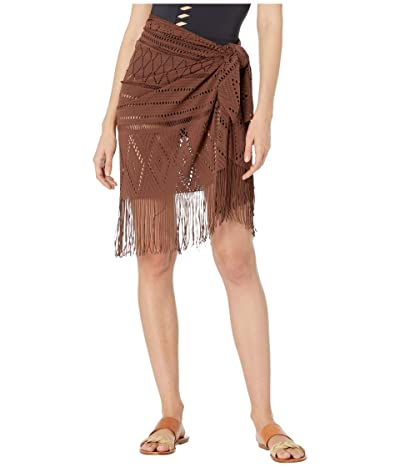 Bleu Rod Beattie On the Fringe Crochet Pareo Cover-Up (Loca Mocha) Women