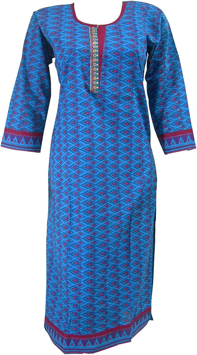 Panini Impex Gift for Women Printed Cotton Long Top India Clothing