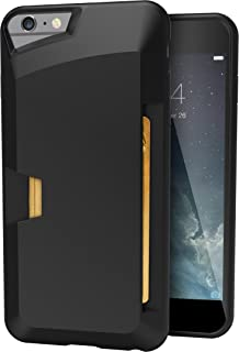 Smartish iPhone 6 Plus/6s Plus Wallet Case - Wallet Slayer Vol. 1 [Slim + Protective] Credit Card Holder for Apple iPhone 6s Plus/6 Plus (Silk) - Black Onyx