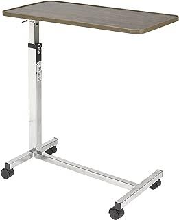 Drive Medical Tilt Top Overbed Table, Walnut