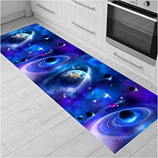 3D Runner Rug for Hallway, Very Long Entryway Carpet with Non Slip Backing, Soft Washable Floor Pad for Bedroom Kitchen Do...