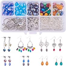 SUNNYCLUE 1 Box DIY 10 Pairs Chandelier Earrings Jewelry Making Starter Kit Instruction, Chandelier Components Connector Charm Pendants, Shell Heart Beads, Earring Hooks Jewelry Findings for Adults