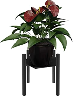 Indoor Outdoor Plant Stand, Metal Potted Plant Stand Holder, Midcentury Plant Stand for Home, Garden & Patio Corner