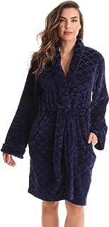 Kimono Robe Velour Scalloped Texture Bath Robes for Women