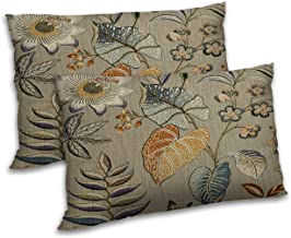 RADANYA Leaf Printed Pillow Cover Polyester Beige Cushion Case Cover Décor 12x18 Inch