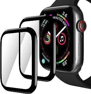TINICR [2-Piezas] Protector de Pantalla y Láminas para Apple Watch 44 mm Series 4/5/6/SE, 0,2 mm, Ultrafino, Resistente a ...