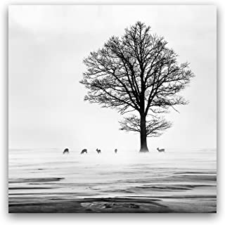 "Studio 500 Museum Quality Wall Art - The Dears under a Tree 36""W x 36"" High-Resolution Giclee Printing on Canvas Wrapped; Landscape Collection: B0910"