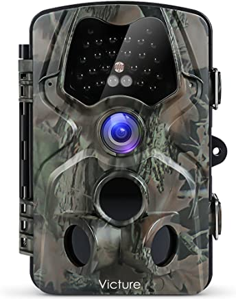 """Victure - Fotocamera da Caccia, 12 MP, 1080P, Full HD, grandangolo, Visione a infrarossi, Visione Notturna, 20 m, Impermeabile IP66, con Display LCD da 2,4"""""""