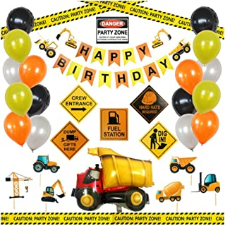 Construction Birthday Party Supplies - Decoration Pack
