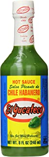 El Yucateco Green Hot Sauce Bottle, Chile Habanero, 8 Ounce