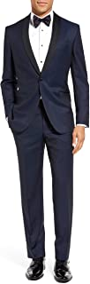 London Fog Men's Peak Lapel & Shawl Collar Regular Fit Two Piece Tuxedo Suit