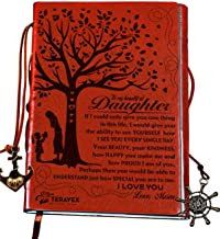 Mom To Daughter Gifts - Writing Journal, Personal Diary, Lined Journal, Travel, 6x8.75 Notebook, Writers Notebook, Faux Leather, Refillable for Teen Girls Women- Best Anniversary Birthday Gift