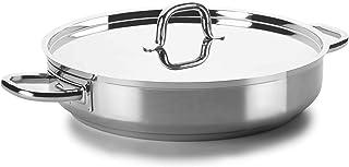 Lacor - 54640 - Paellera Con Tapa 40 Øcm Chef Luxe Inox