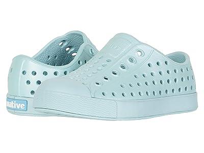 Native Kids Shoes Jefferson Metallic (Toddler/Little Kid) (Cardigan Metallic/Cardigan Blue) Girls Shoes