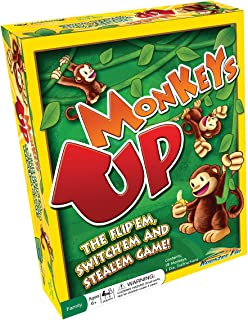 Monkeys Up Family Board Game – Kids Learn Strategy, Social Skills and Improve Memory, Math Teacher Created Educational Fun for All Ages, Children or Adults 6 Years and Up