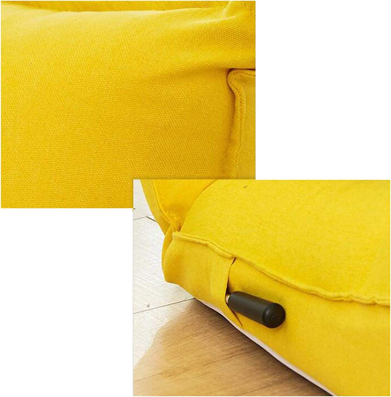 YALIXI Chaise De Sol,Canapé Inclinable Paresseux,Tatami Lavable,5 Positions Réglables,pour Salon Chambre Bureau,126X62x16cm Dark Gray