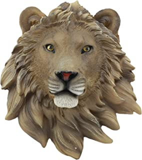 Ebros Simba Safari King of The Jungle Lion Head Wall Decor Plaque 9.25