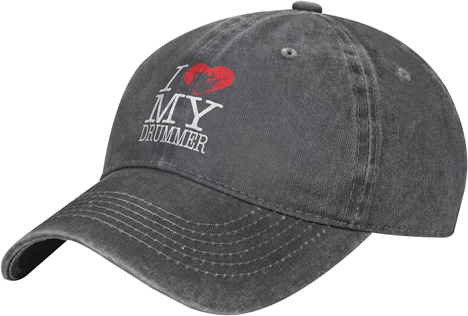 I Love NEW My Drummer Kids Baseball Cap Distressed-Washed Outlet ☆ Free Shipping Adjustable