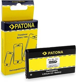 Batería BL-5C | BL5C | BL-5CA | BL-5CB | BL-6C para Nokia 1100 | 1101 | 1110 | 2300 | 2310 | 3100 | 3109 classic | 5030 | 5130 XpressMusic | 6030 | 6085 | 6086 | 6230i | 6267 | 6270 | 6555 | 6600 | 7600 | 7610 | Asha202 | C1 | C2 | E50 | E60 | N70 | N70 MusicEdition | N71 | N72 | N91 | N91 8GB | N-Gage | X2-01 | X2-02 | X2-05 y mucho más… [ Li-ion, 1200mAh, 3.7V ]