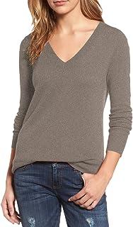 Viottiset Mujer Jersey Sudaderas Básico Punto Suéter de Moda v-Cuello Otoño Invierno Jerseys Blusas Tops