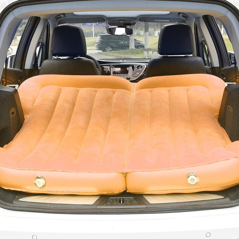 ERHANG Luftmatratzen Luftbetten Betten Luftmatratzen Auto Aufblasbare Matratze Reise Luftbett Rücksitz Camping Rücksitz Schlafmatte Kissen Schock Bett,Orange