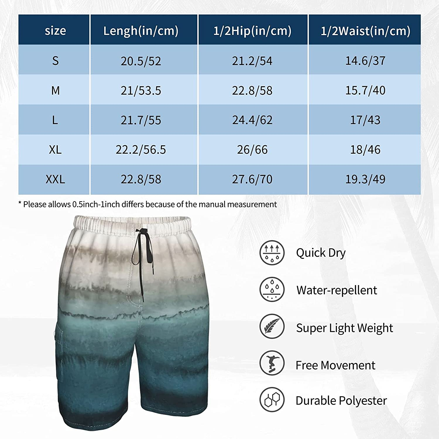 NiYoung Mens Swim Trunks Summer Cool Quick Dry Board Shorts Bathing Suit with Pockets