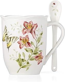 LENOX Butterfly Meadow Mug & Spoon, 0.75 LB, Multi
