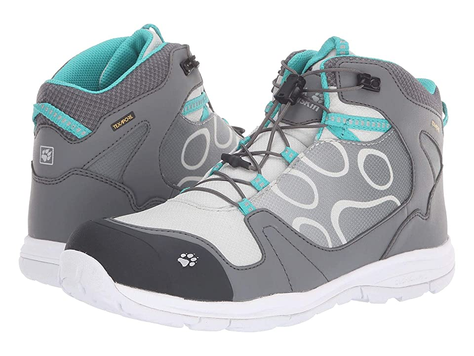 Jack Wolfskin Kids Grivla Waterproof Mid (Toddler/Little Kid/Big Kid) (Tarmac Grey) Girls Shoes