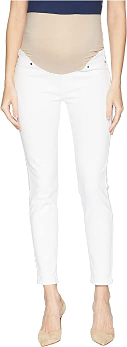 Maternity Ankle Skinny in Super Soft Stretch Denim in Bright White