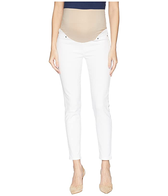 Liverpool Maternity Ankle Skinny in Super Soft Stretch Denim in Bright White (Bright White) Women's Jeans