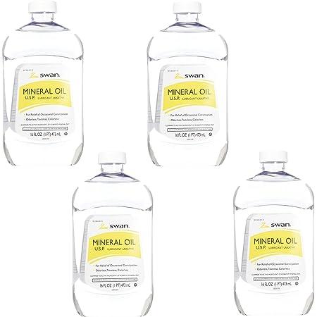 Swan Mineral Oil 16 oz, 4 Pack