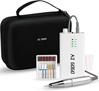 AZ GOGO Professional Portable 30000 rpm Nail Drill, Portable Electric Nail Drill Machine for Acrylic Nails - Efile Manicure/Pedicure Kit (with EVA Bag)
